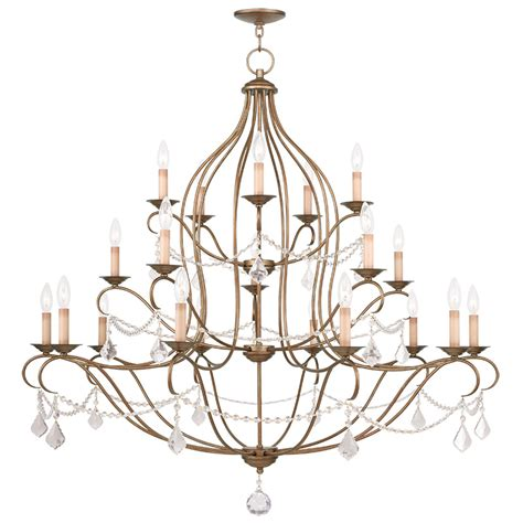 Leaf Chandelier Livex Lighting Chesterfield Chandelier Antique Gold Leaf 6439 48
