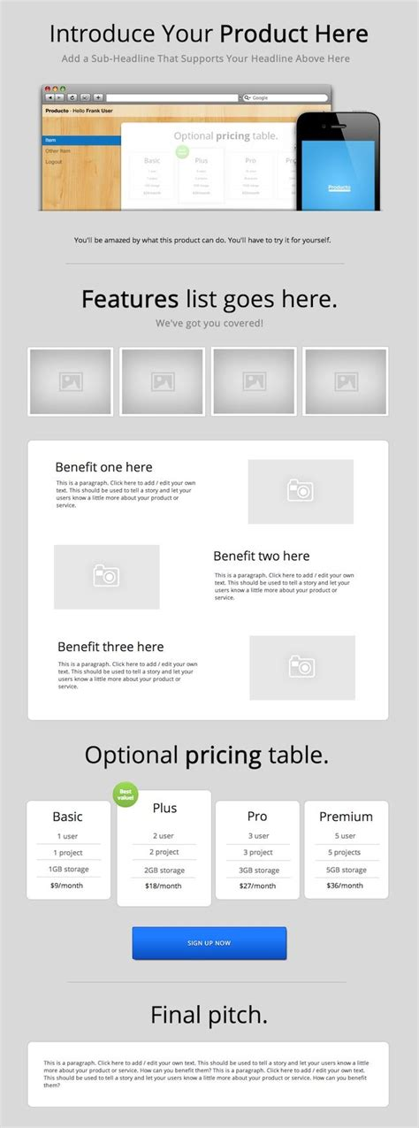 What Is A Pitch Page One Page Pitch Template