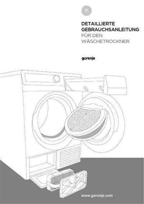 Wäschetrockner Auf Waschmaschine 2963 by Gorenje D7560aw 195 164 Schetrockner Handbuch In