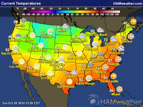 us weather on map us temperature map