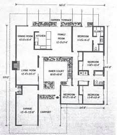 eichler atrium floor plan mid century modern and 1970s era ottawa california modern