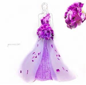Diy Home And Garden Crafts - creative fashion design sketches using real flower petals