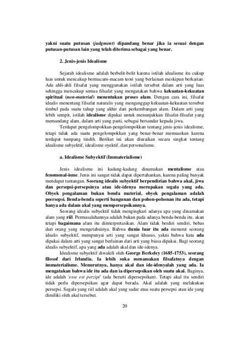 idealis adalah bab 3 filsafat idealisme dan realisme