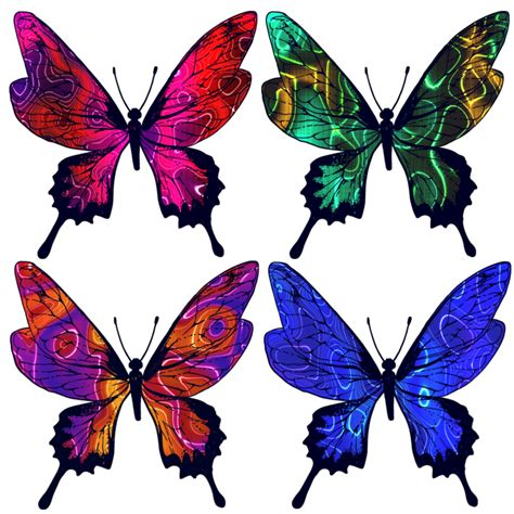 Butterfly Set batik butterfly set 1 by on deviantart