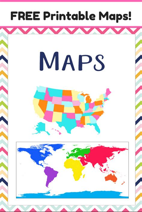 map usa free printable free map printables the relaxed homeschool