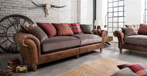 sofa sale interest free credit marshall 100 real leather and fabric grand sofa 2 piece