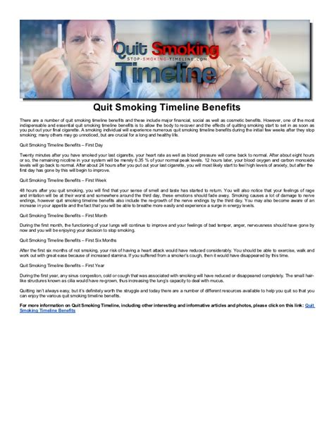quit smoking benefits men how to small penis quit smoking timeline benefits