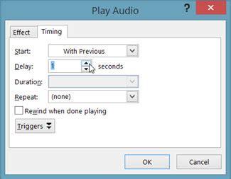 format audio untuk powerpoint memainkan muzik atau bunyi lain secara automatik apabila
