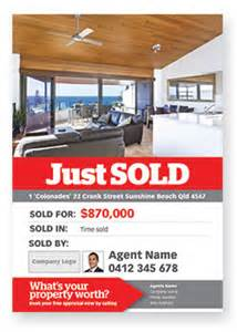 real estate just sold flyer templates template