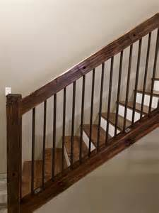 stair banister rails 25 best ideas about rustic stairs on basement