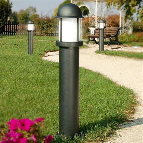 illuminazioni per giardini midos paletto lioncino moderno in alluminio