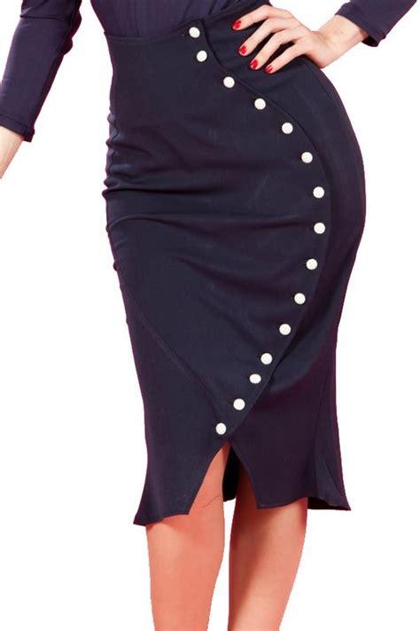 navy pencil skirt fashion ideas