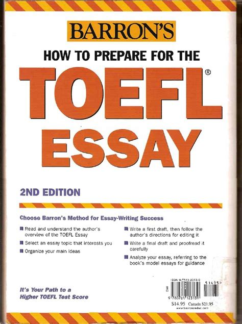free how to prepare for the toefl essay barron