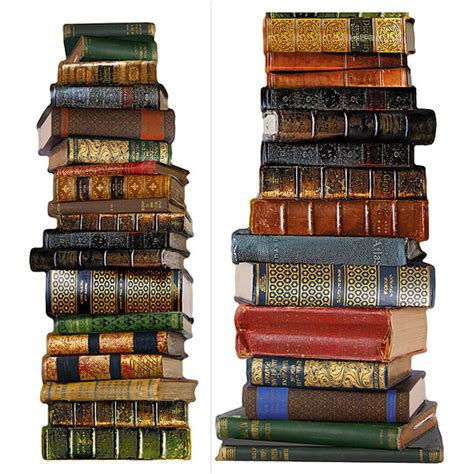 Kitchen Backsplash Stick On stack of books peel and stick realistic wall applique