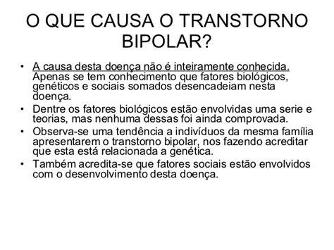 o que ã o que causa o transtorno bipolar