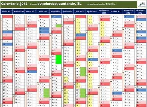 crear calendario en excel tenso o largo cuerda 191 c 243 mo hacer un calendario laboral en