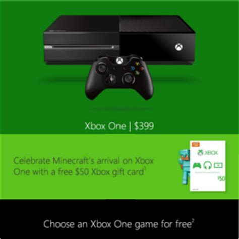 Free Xbox Gift Cards 2014 - free game 50 gift card w xbox one console purchase was 508 99