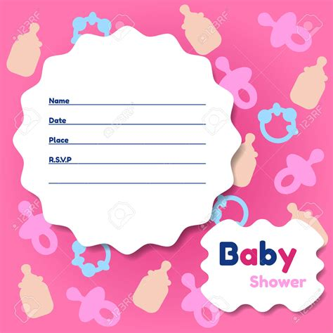 Free Baby Shower Card Template by Template Baby Shower Card Template Invitation Cards For