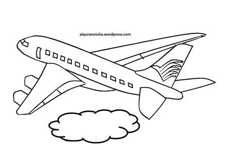 gambar pesawat hitam putih  diwarnai