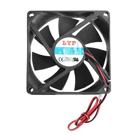 2 pin computer fan 80 x 80 x 25mm 12v 2 pin brushless fan for