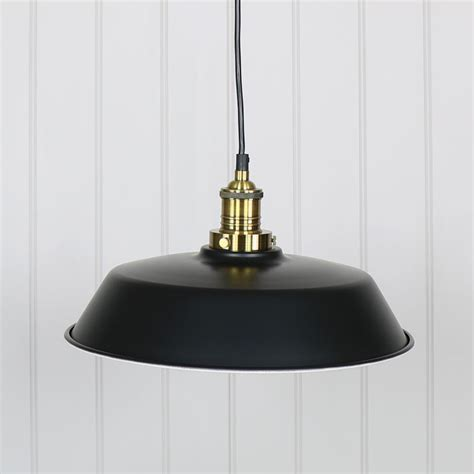 Black Metal Pendant Lights Industrial Style Black Metal Pendant Ceiling Light Melody Maison 174