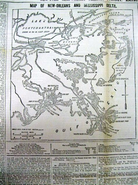 civil war maps for sale 1861 civil war newspaper detailed map new orleans