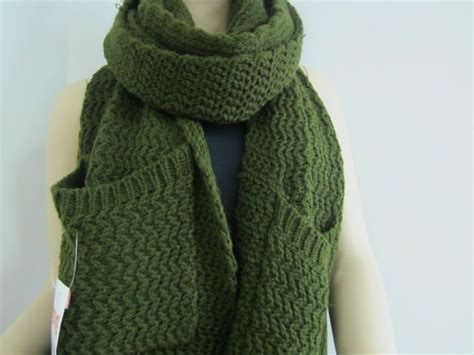 knitting pattern for a scarf with pockets 100 acrylic knitting pattern pocket scarf buy knitting