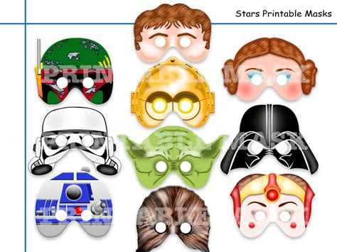 printable chewbacca mask unique star wars printable masks party by holidaypartystar