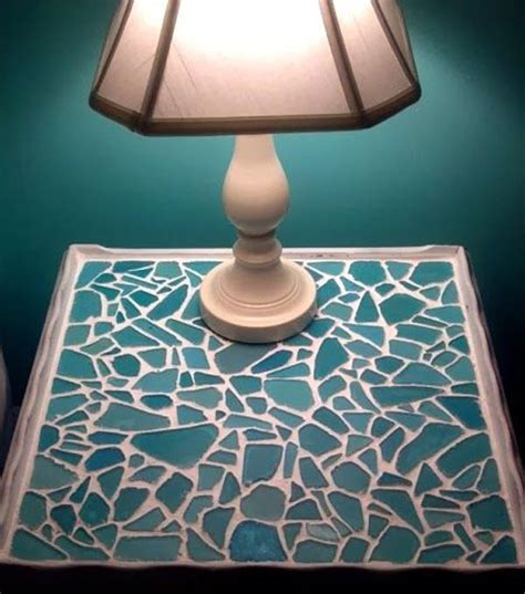 cute diy home decor ideas  colored glass  sea