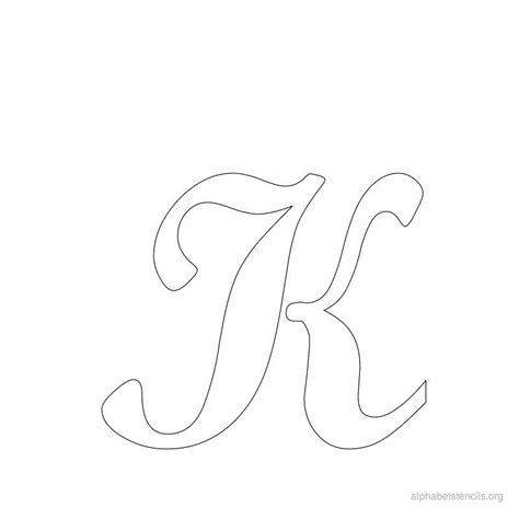 printable stencils alphabet print free alphabet stencils cursive k stencils