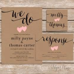 wedding invitations with pictures templates rustic wedding invitation printable wedding invitation