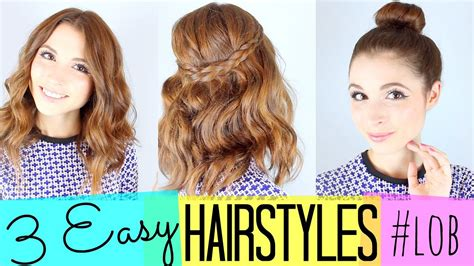 4 ways to style the lob 3 easy hairstyles lob youtube
