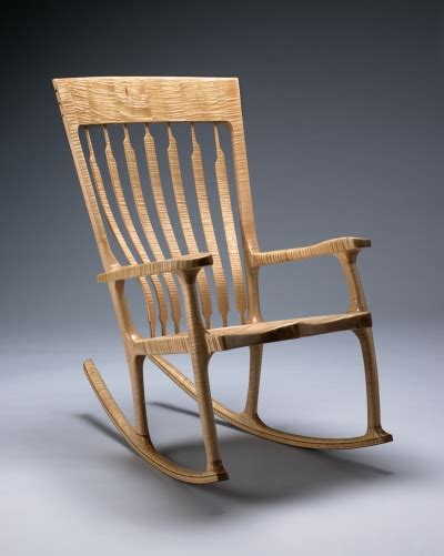 Vermont Rocking Chair by Curly Maple Rocking Chair Kit Clark Furniture N
