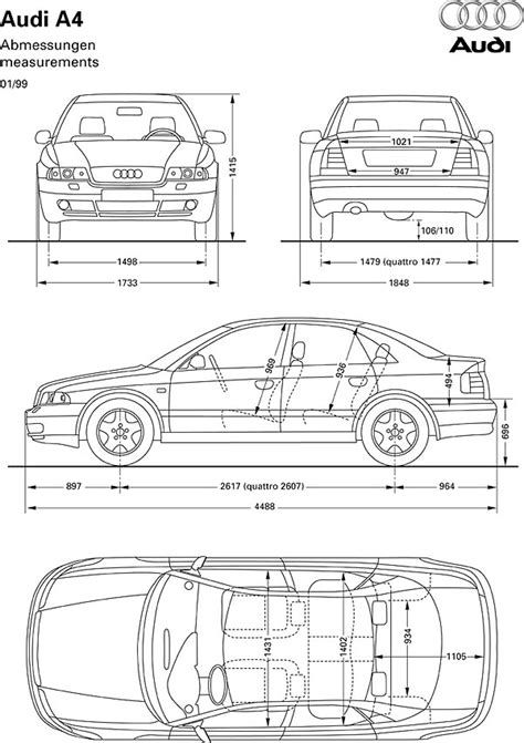Audi A4 2002 Dimensions by Audi A4 B5 8d 1996 2001 Faq Frequently Asked