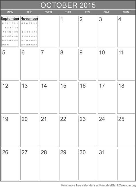 printable fillable calendar october 2015 october 2015 printable calendar template printable blank