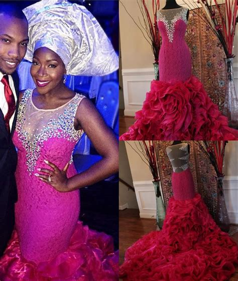 latest aso ebi dress 2016 robe de soiree 2016 aso ebi style lace mermaid sheer neck