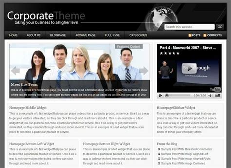 2 high quality corporate wordpress templates wordpress