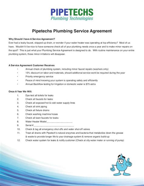 11 Plumbing Contract Sles Templates Sle Templates Plumbing Contract Template