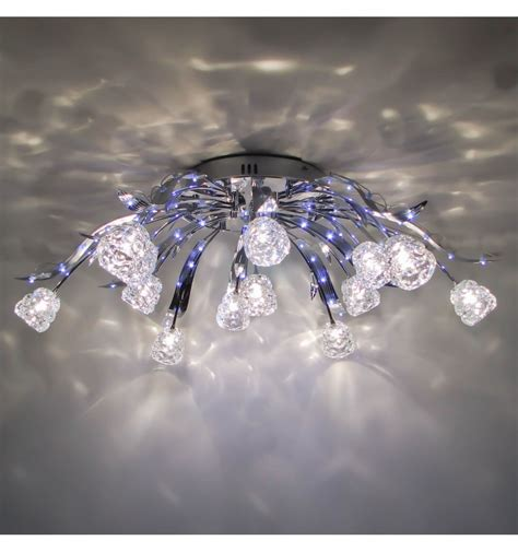 Moderne Kronleuchter Halogen by Ceiling Light Blue Led Tulips Kosilight