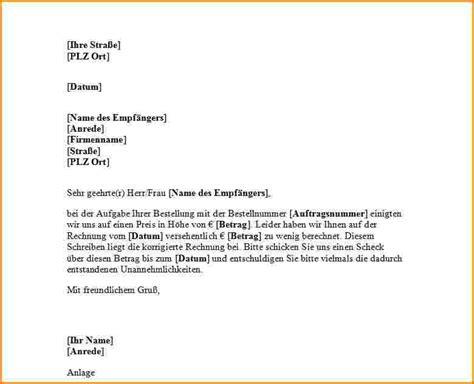 Anschreiben Korrektur Formloses Anschreiben Vorlage Reimbursement Format