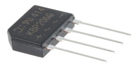diodes inc bridge rectifier kbp206g diodes inc kbp206g bridge rectifier 2a 600v 4 pin kbp diodeszetex