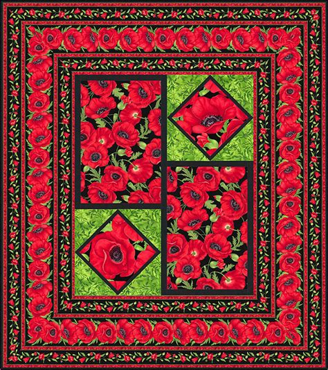 Poppy Quilt Pattern by Free Quilt Pattern Poppies All Around Equilter Blogequilter