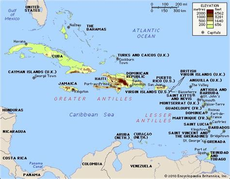 map of caribbean with country names west indies history map britannica