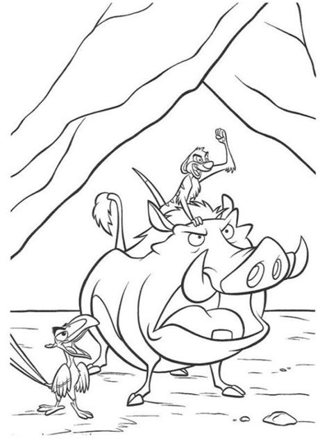 lion king timon coloring pages timon pumbaa and zazu the lion king coloring page
