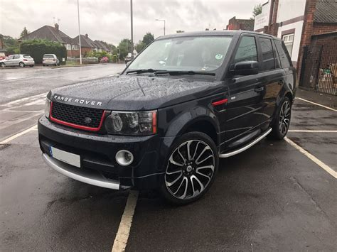 land rover autobiography red range rover sport black red autobiography style front