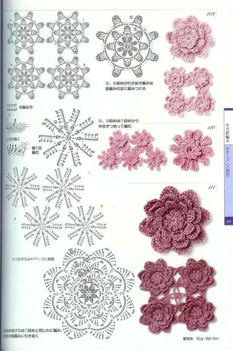 uncinetto schemi fiori crochet 17 best images about fiori uncinetto on posts