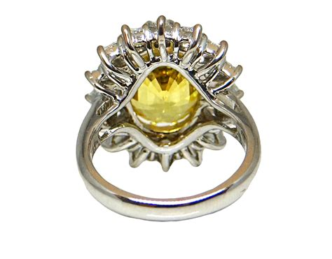 18k white gold yellow sapphire and ring world s best