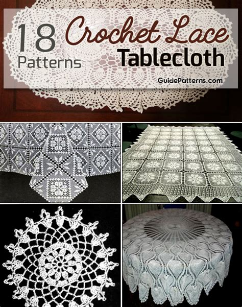 easy crochet lace tablecloth patterns guide patterns