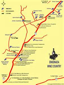 map of wine country california the vine baja style rage monthly magazine