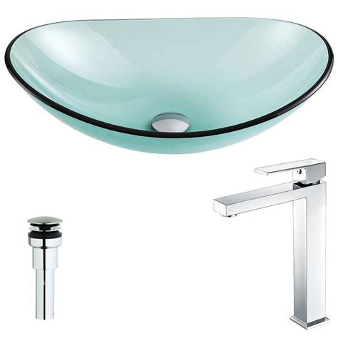 green glass bathroom sink shop anzzi major series lustrous green tempered glass oval